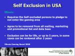 self exclusion in usa5