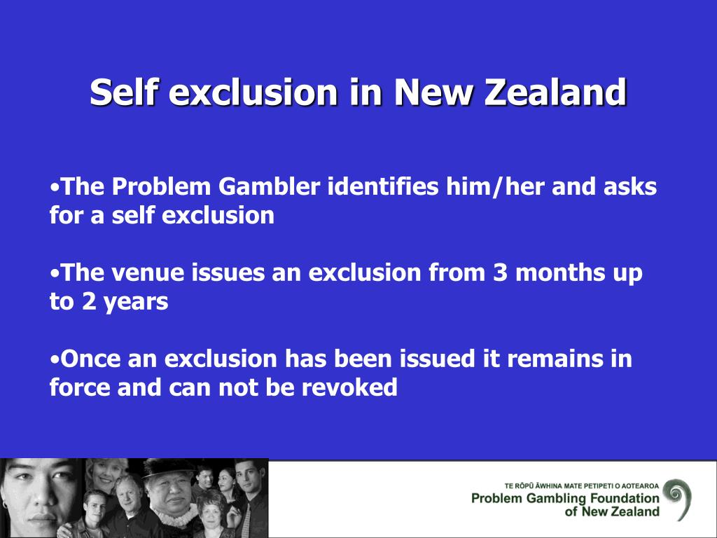Self exclusion in New Zealand