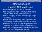 effectiveness of casino self exclusion