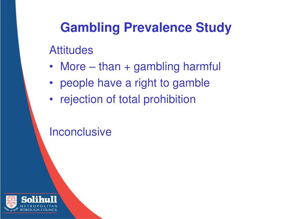 Gambling Prevalence Study