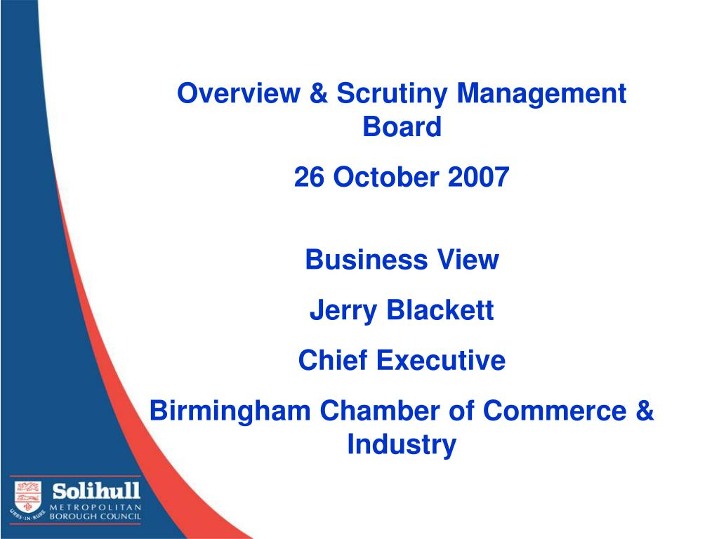 Overview & Scrutiny Management Board