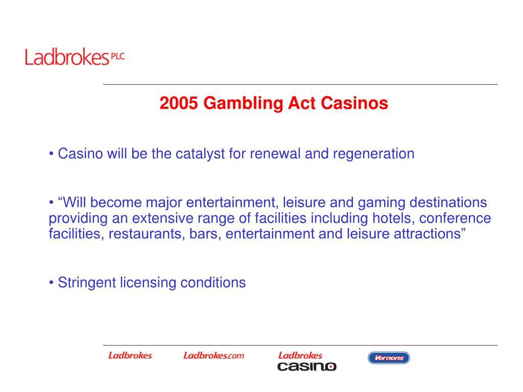 2005 Gambling Act Casinos