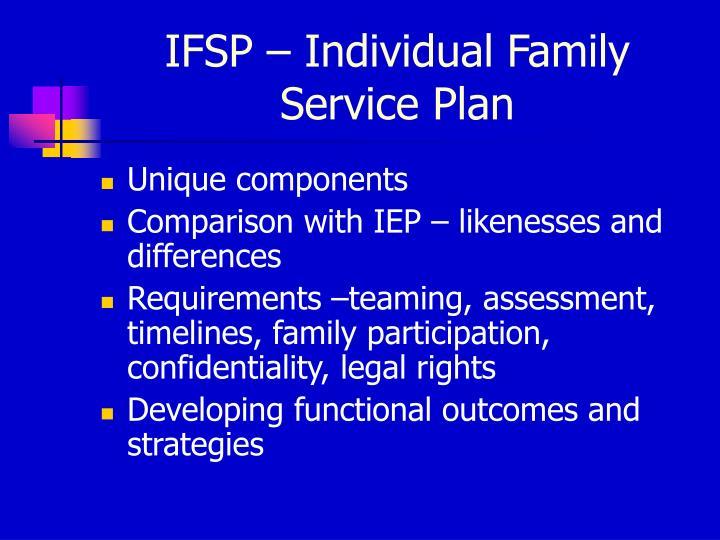 IFSP – Individual Family Service Plan
