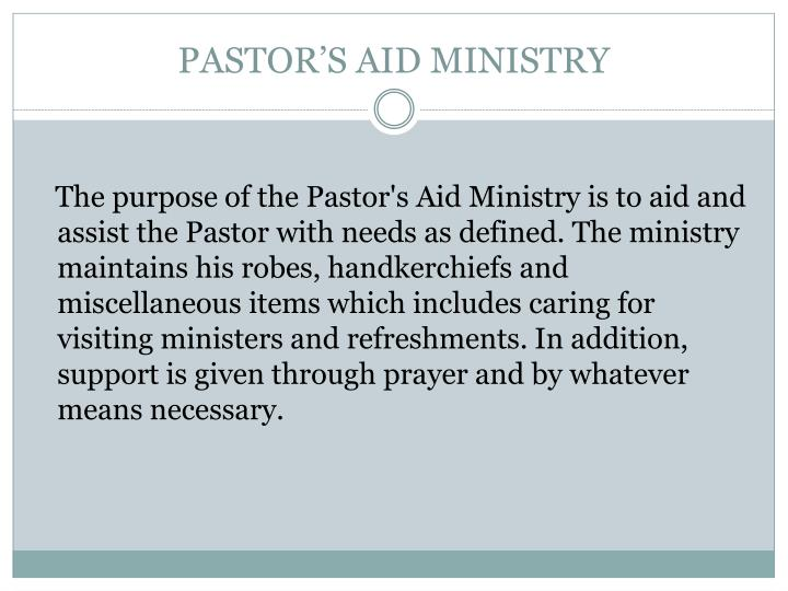 pastor s aid ministry n.