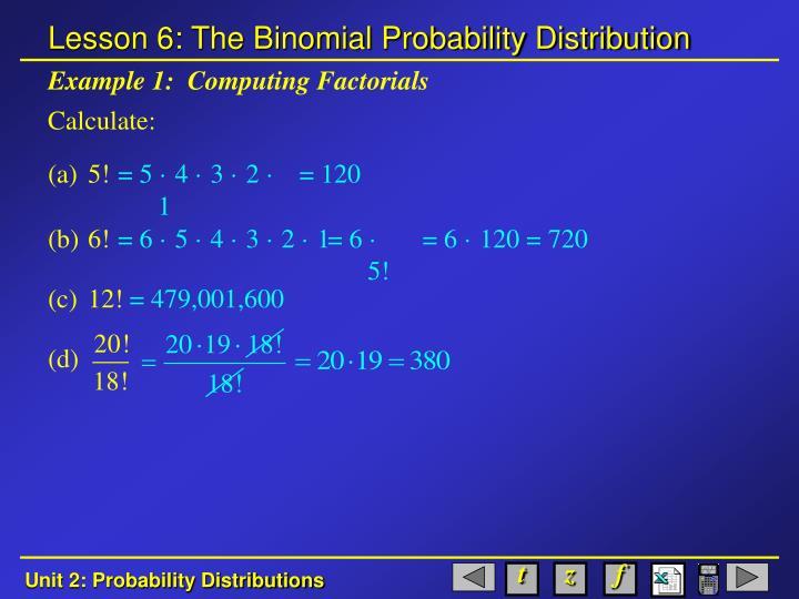 Example 1 computing factorials