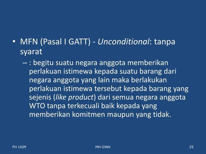 MFN (Pasal I GATT) -