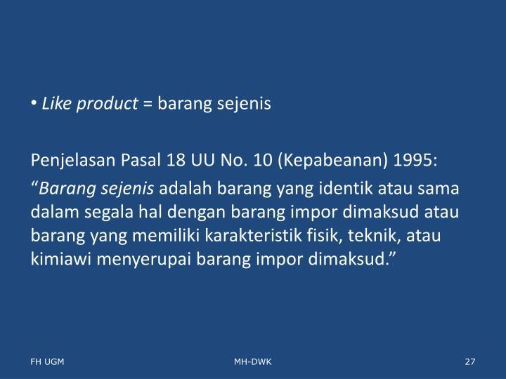 Like product