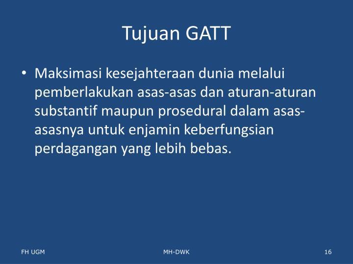 Tujuan GATT