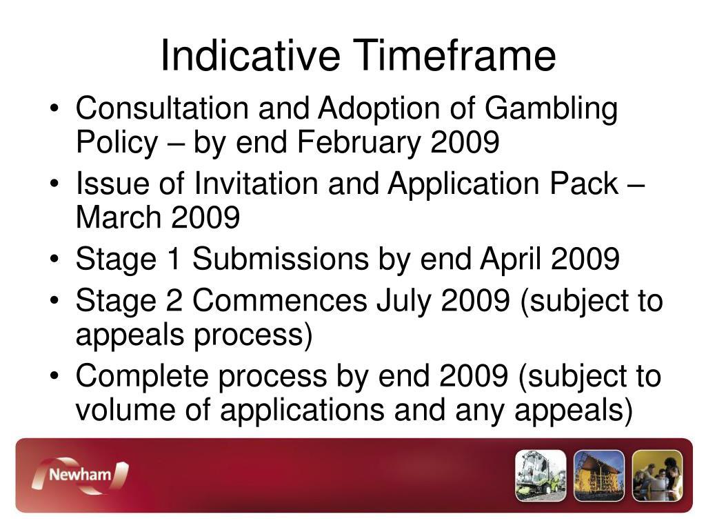 Indicative Timeframe