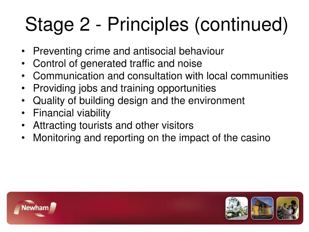 Stage 2 - Principles (continued)