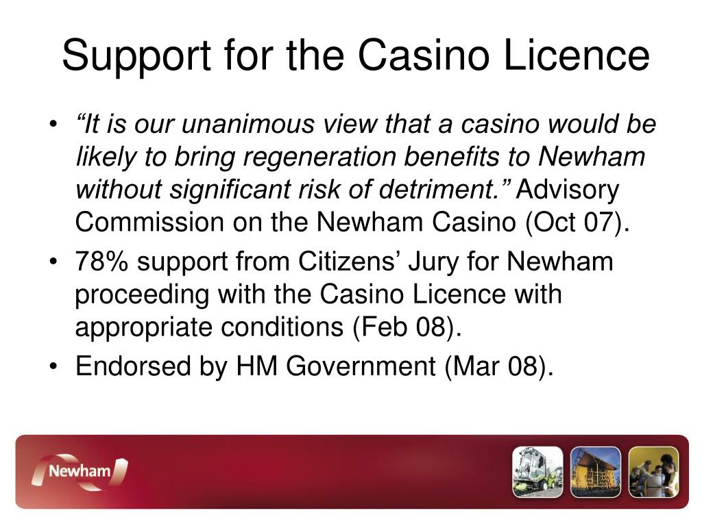 Support for the Casino Licence