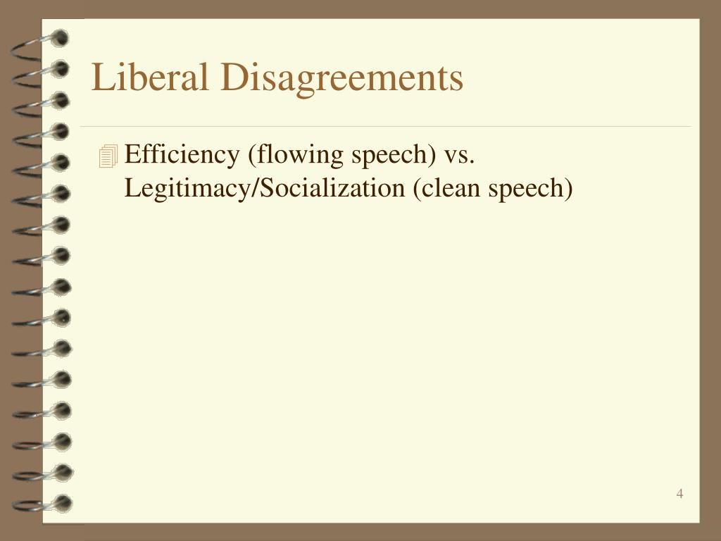 Liberal Disagreements