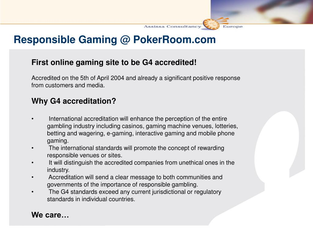 Responsible Gaming @ PokerRoom.com