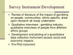 survey instrument development