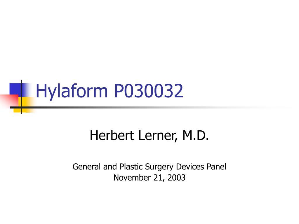 hylaform p030032 l.