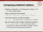 composing entailment relations