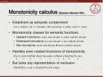 monotonicity calculus s nchez valencia 1991