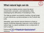 what natural logic can do