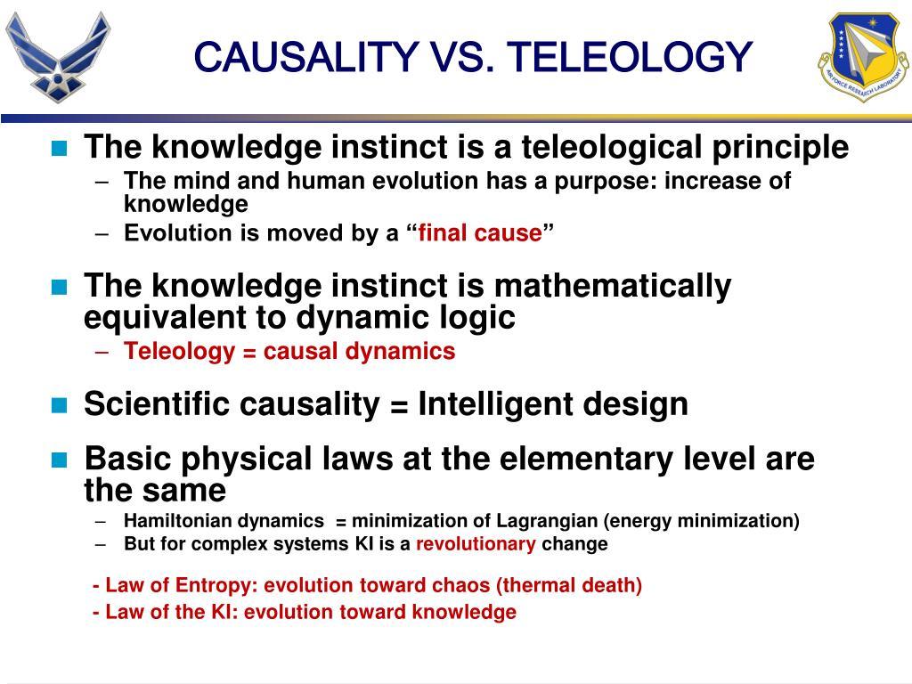 CAUSALITY VS. TELEOLOGY