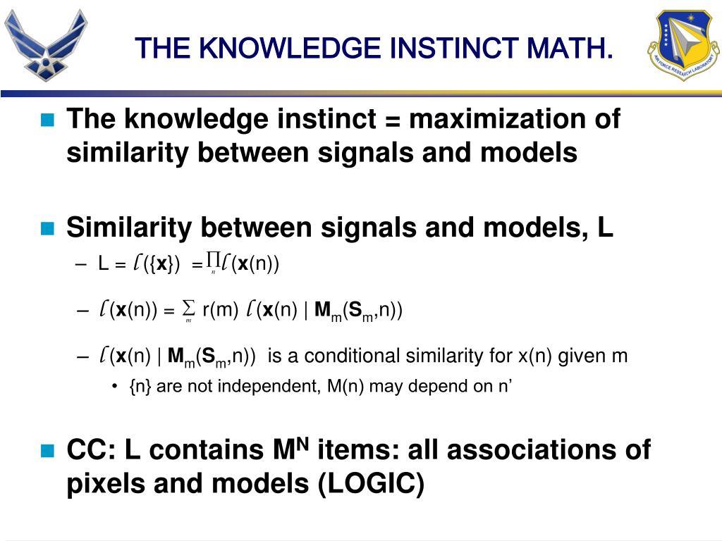 THE KNOWLEDGE INSTINCT MATH.