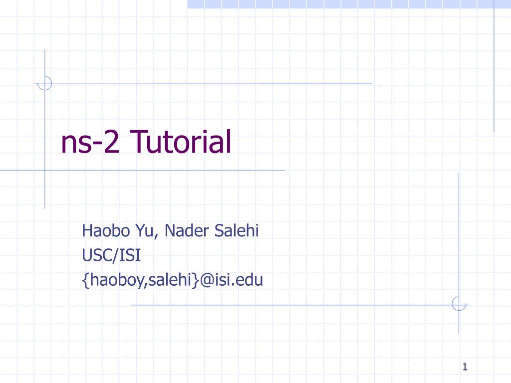 ns 2 tutorial
