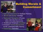 building morale commitment