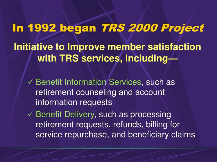 In 1992 began