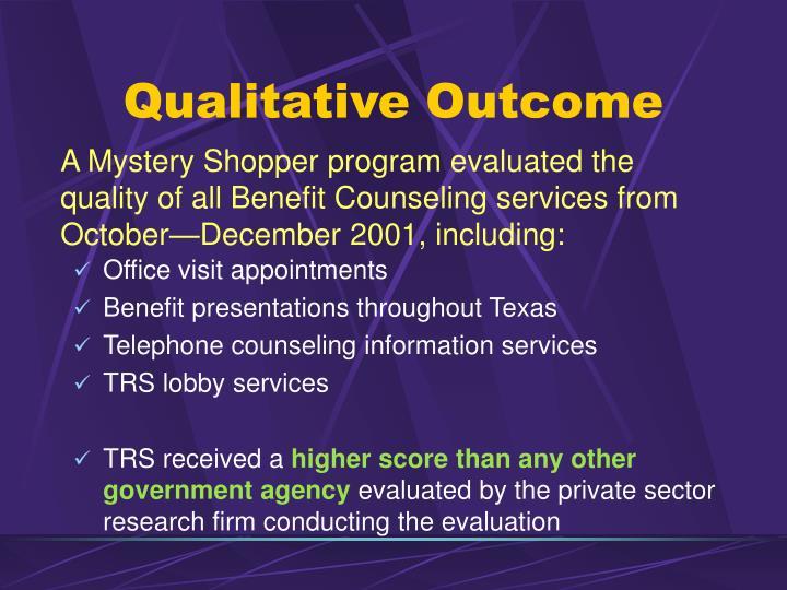 Qualitative Outcome