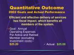 quantitative outcome 2002 goals and actual performance1