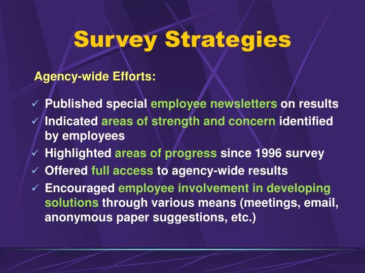 Survey Strategies