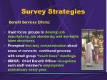 survey strategies1