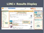 linc results display