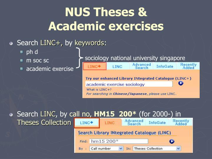sociology honours thesis nus
