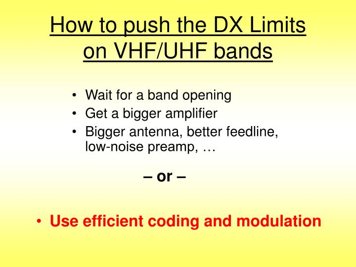 How to push the dx limits on vhf uhf bands