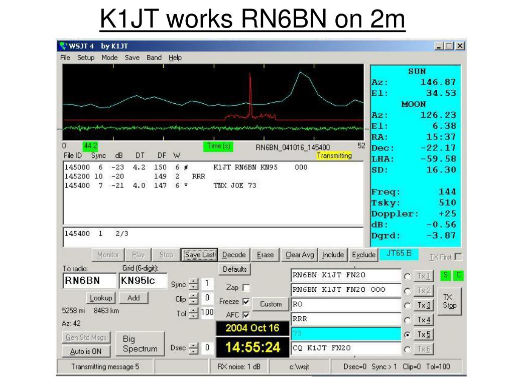 K1JT works RN6BN on 2m