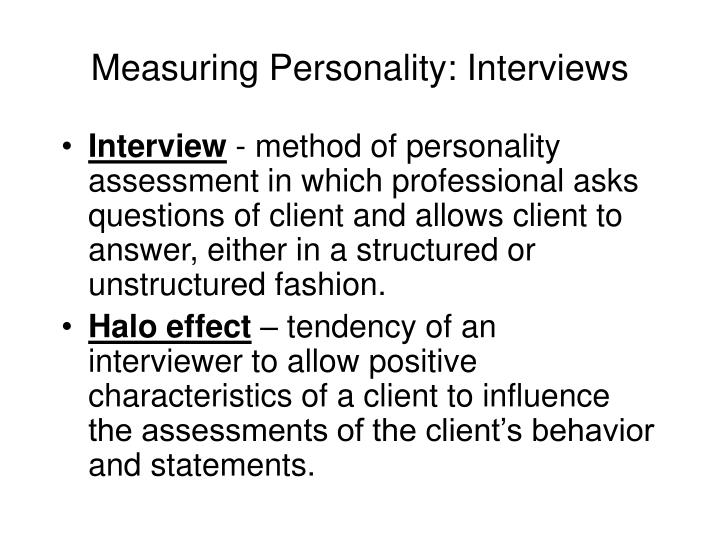 techniques of personality measurement