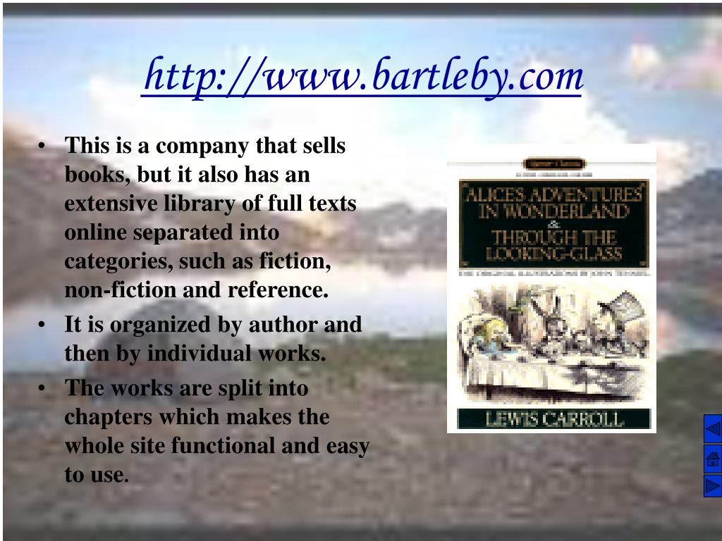 This is a company that sells books, but it also has an extensive library of full texts online separated into categories, such as fiction, non-fiction and reference.
