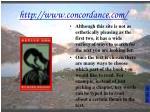 http www concordance com