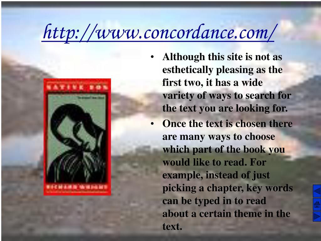http://www.concordance.com/