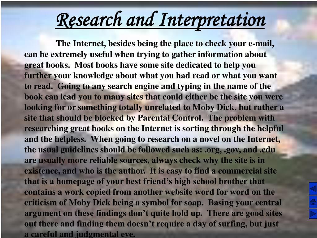 Research and Interpretation