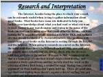 research and interpretation49