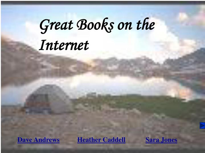 Great Books on the Internet
