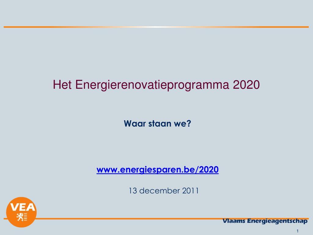 het energierenovatieprogramma 2020 l.
