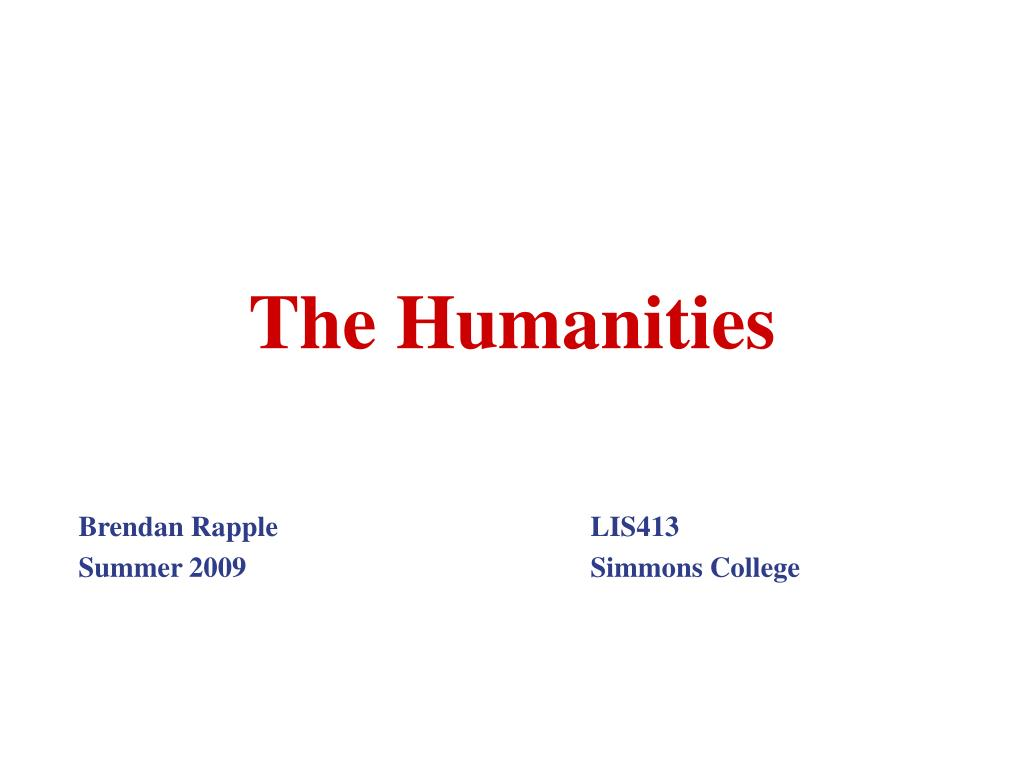 the humanities l.
