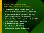 reference collections print resources for literature criticism