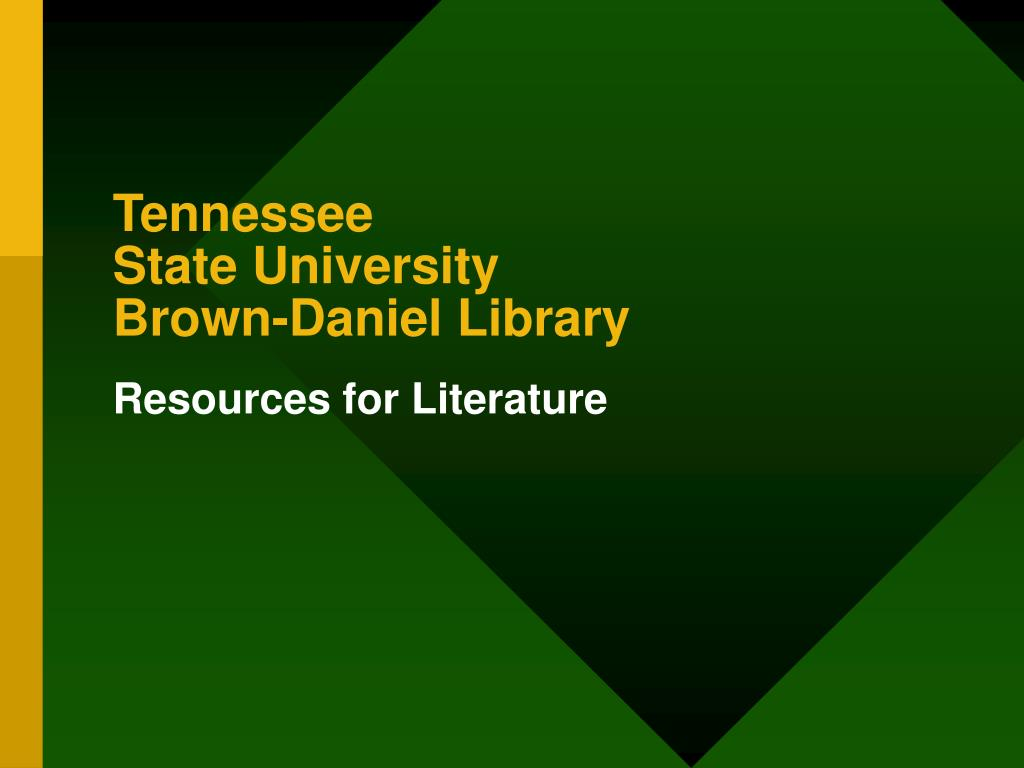 tennessee state university brown daniel library l.