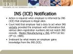 ins ice notification
