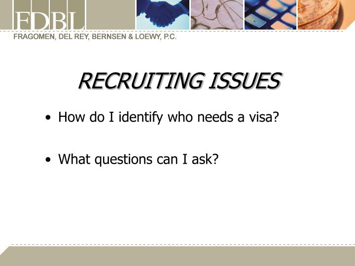 RECRUITING ISSUES