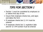 tips for section 1