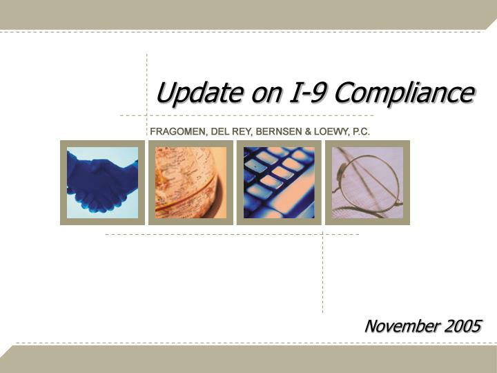 update on i 9 compliance n.